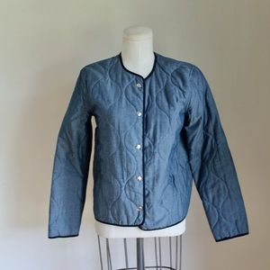 Vintage Chambray Quilted Jacket Liner